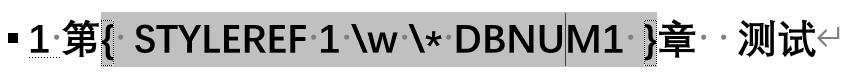 图5 插入域代码并更新域代码后的显示结果
